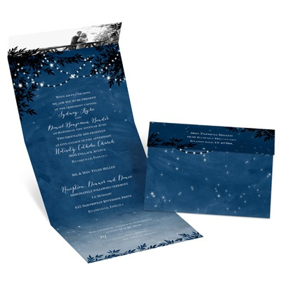 Starry Night Seal And Send Wedding Invitations At Ann 39 S Bridal Bargains