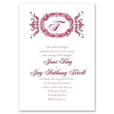 Pure elegance wedding invitation vintage wedding invites for Cheap thermography wedding invitations