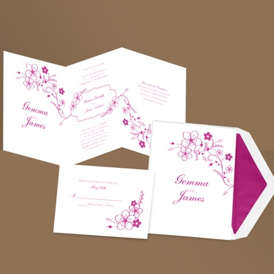 Home ? Send Your Wedding Invitations ? Folded Wedding Invitations ...