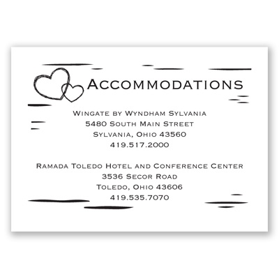 Sweetly Carved - Accommodations Card | Wedding Hotel Cards ...