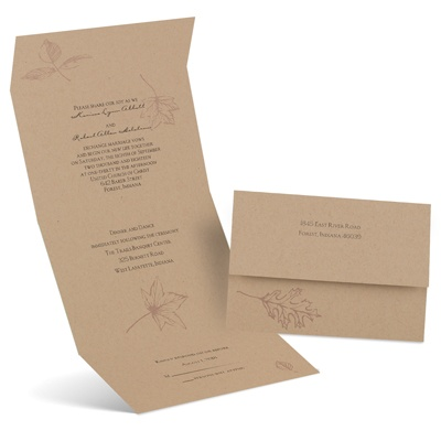 Simply Autumn Seal And Send Wedding Invitation