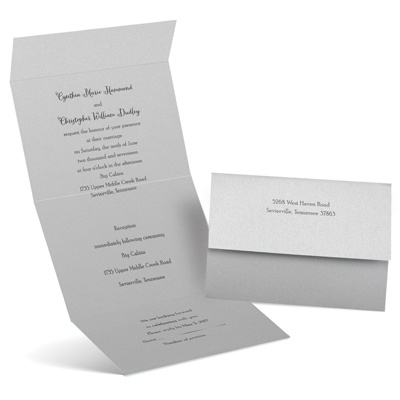 Shine Bright Seal And Send Wedding Invitation