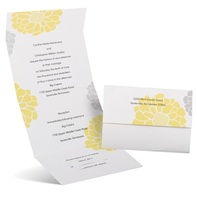 Bright Blooms - Seal and Send Invitation