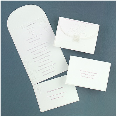 wedding invitations on lily white calla lily seal and send wedding