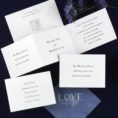 all white wedding invitations
