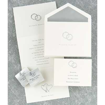 Wedding Invitations Wedding Invitations Silver Rings WEDDING